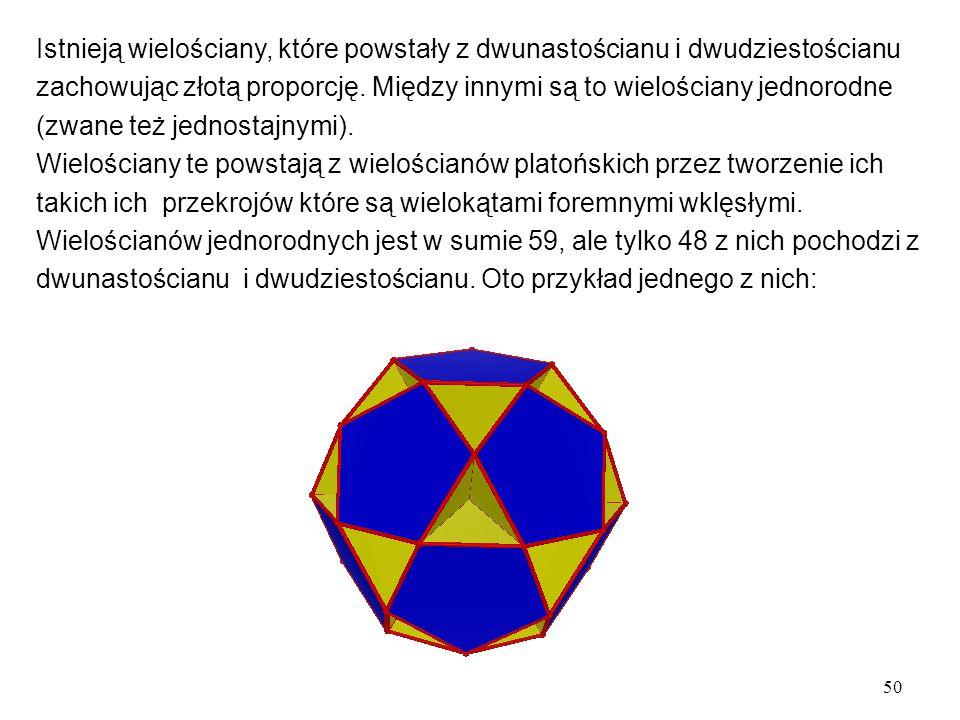 Istnieją wielościany, które powstały z dwunastościanu i dwudziestościanu