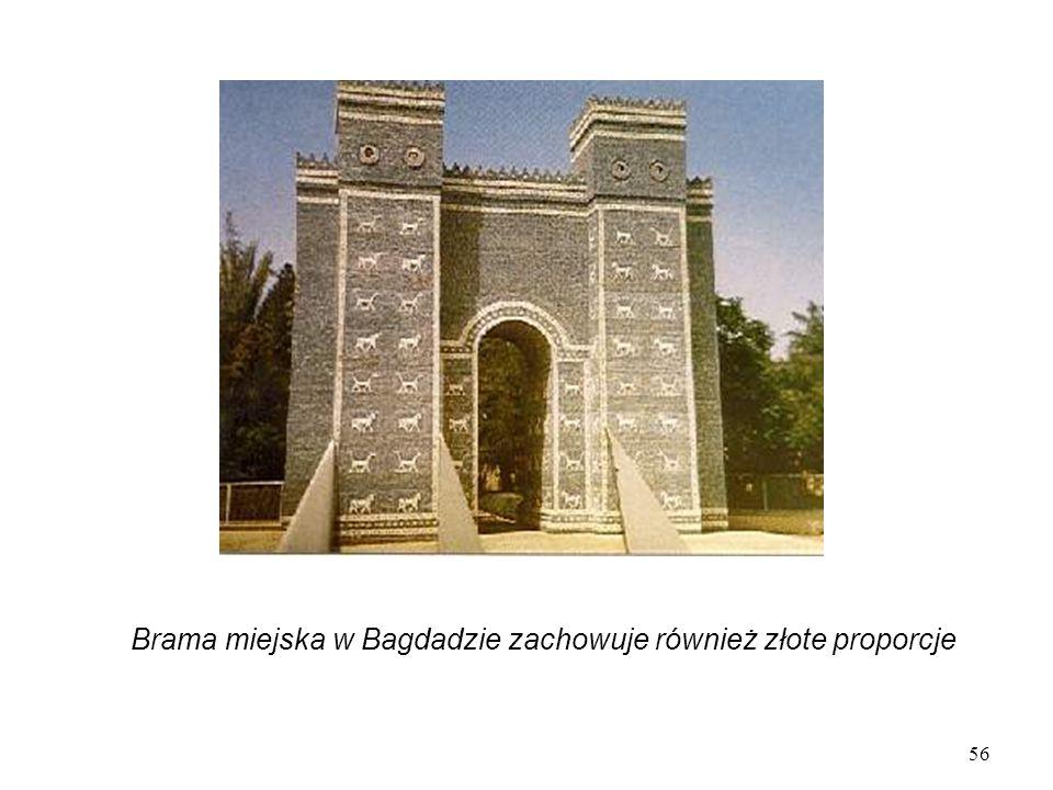 Brama miejska w Bagdadzie zachowuje również złote proporcje