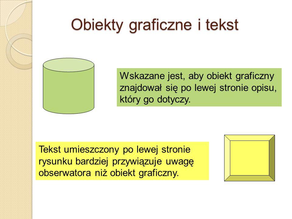 Obiekty graficzne i tekst