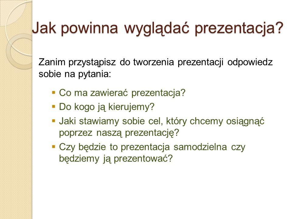 Jak powinna wyglądać prezentacja