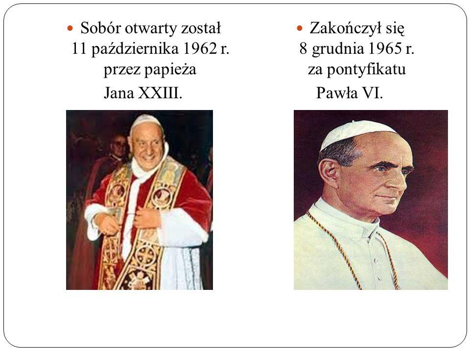 Sobór otwarty został 11 października 1962 r. przez papieża