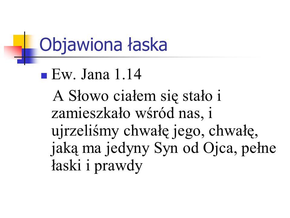 Objawiona łaska Ew. Jana 1.14