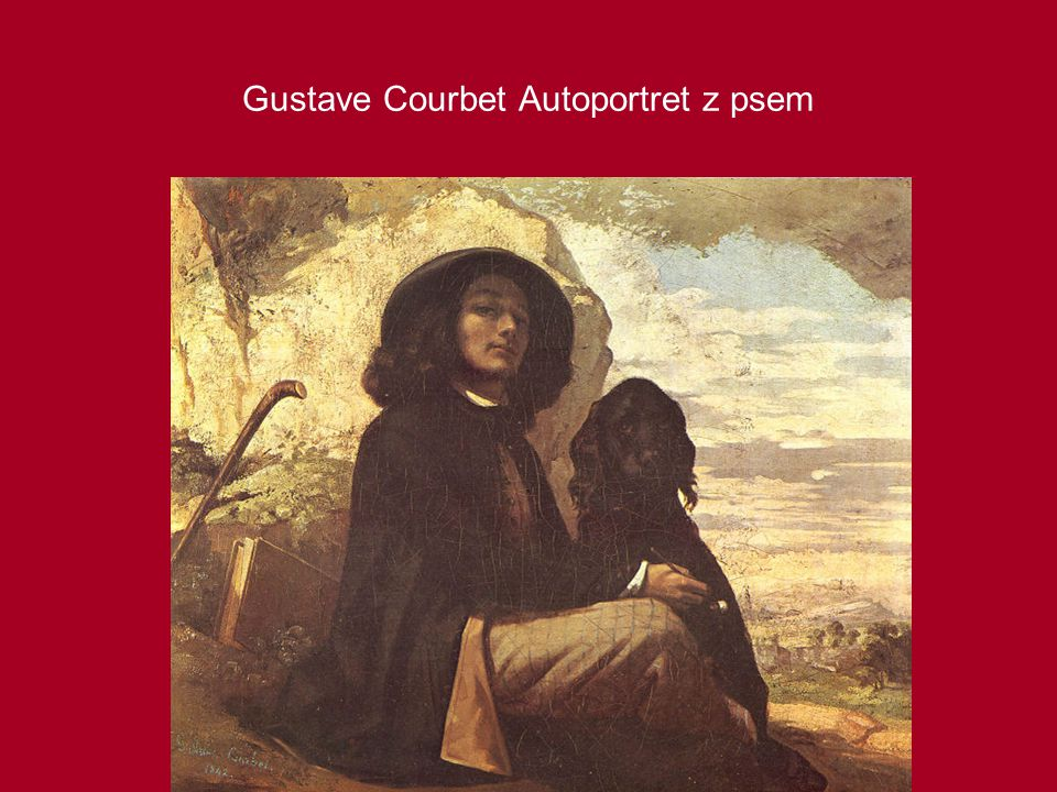 Gustave Courbet Autoportret z psem