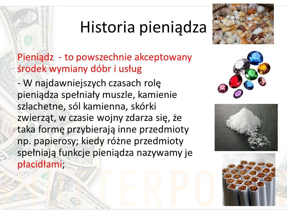 Historia pieniądza