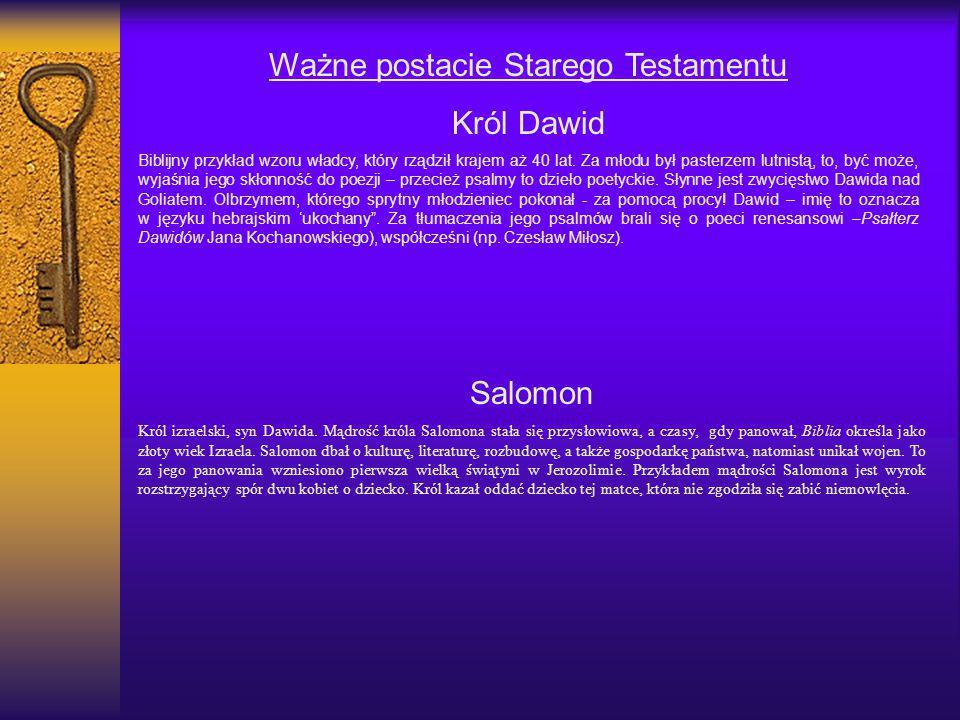 Ważne postacie Starego Testamentu