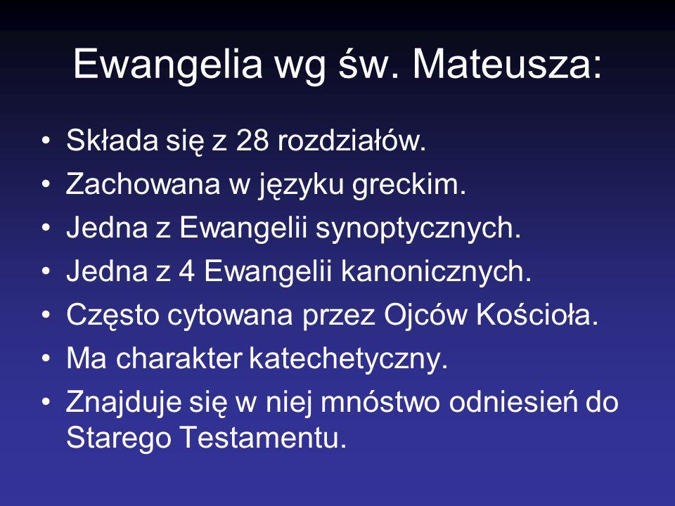 Ewangelia wg św. Mateusza: