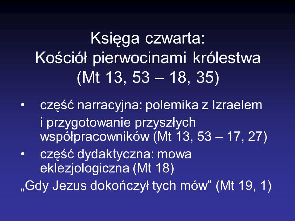 Księga czwarta: Kościół pierwocinami królestwa (Mt 13, 53 – 18, 35)