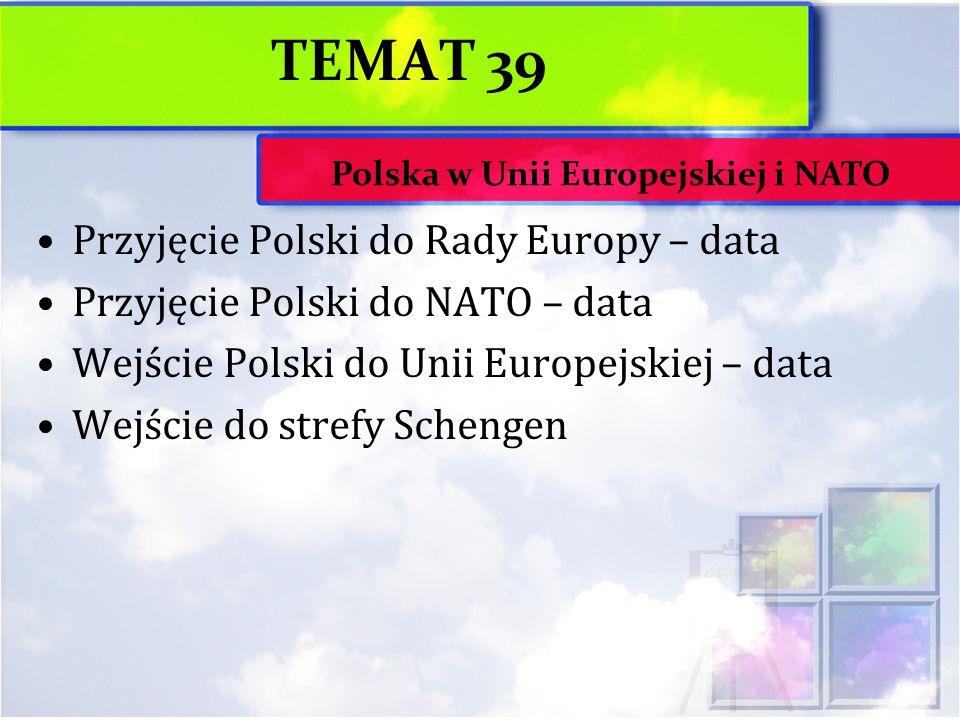 Polska w Unii Europejskiej i NATO