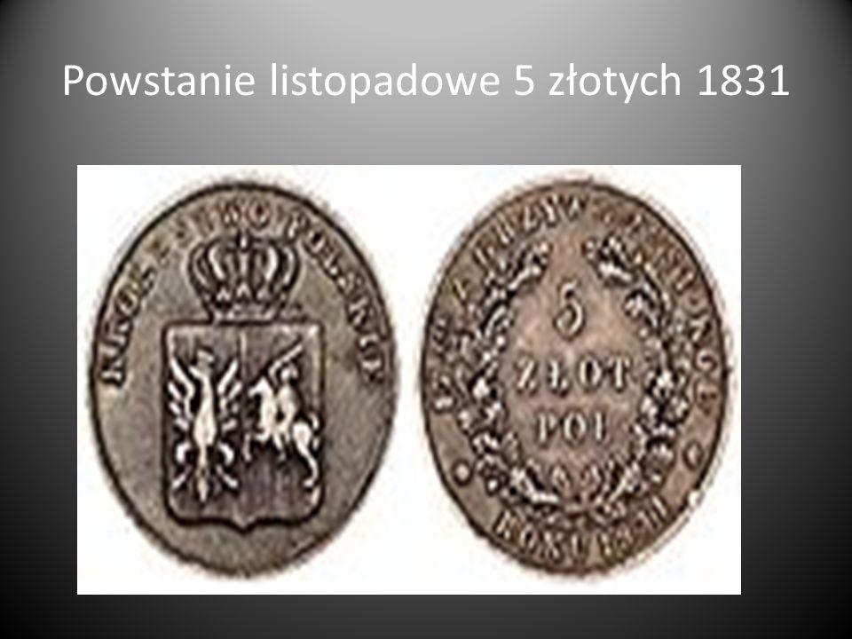 Powstanie listopadowe 5 złotych 1831