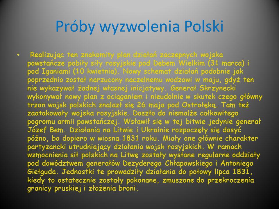 Próby wyzwolenia Polski