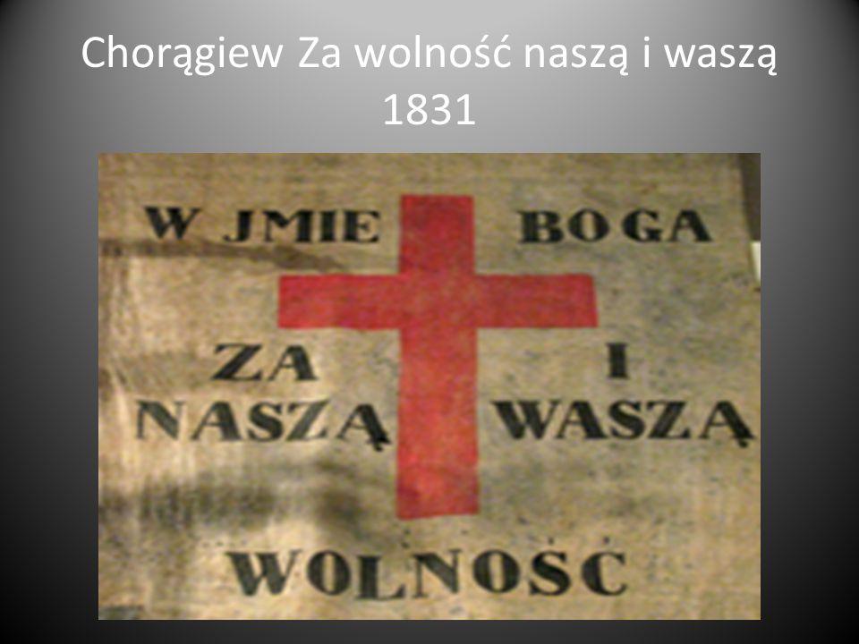 Chorągiew Za wolność naszą i waszą 1831