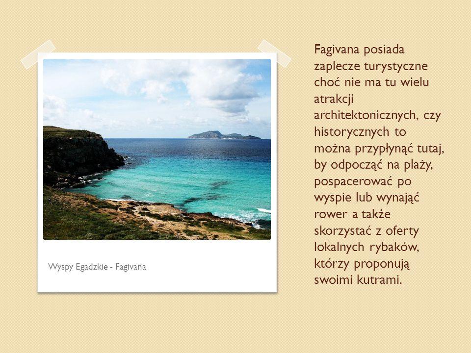 Fagivana posiada zaplecze turystyczne choć nie ma tu wielu atrakcji architektonicznych, czy historycznych to można przypłynąć tutaj, by odpocząć na plaży, pospacerować po wyspie lub wynająć rower a także skorzystać z oferty lokalnych rybaków, którzy proponują swoimi kutrami.