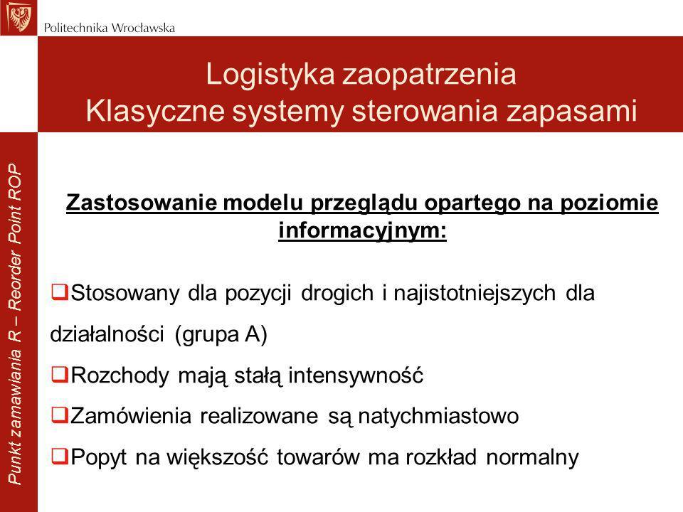 Zastosowanie modelu przeglądu opartego na poziomie informacyjnym: