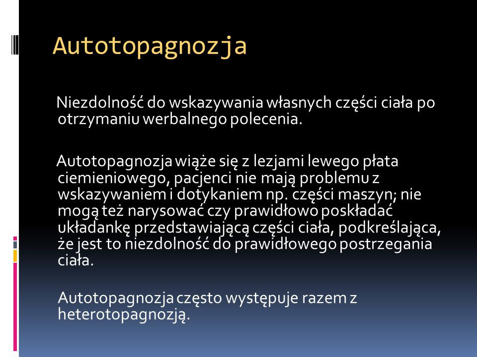 Autotopagnozja