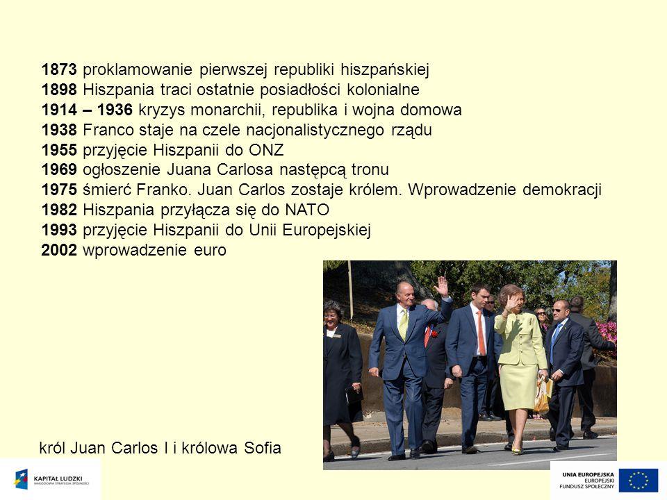 król Juan Carlos I i królowa Sofia