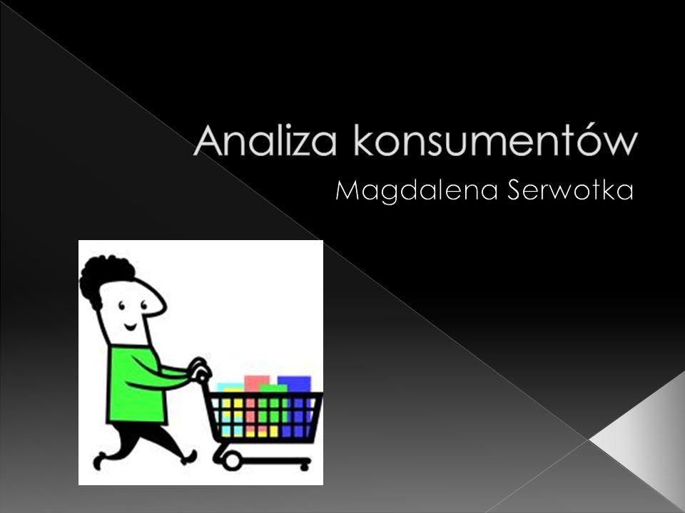 Analiza konsumentów Magdalena Serwotka