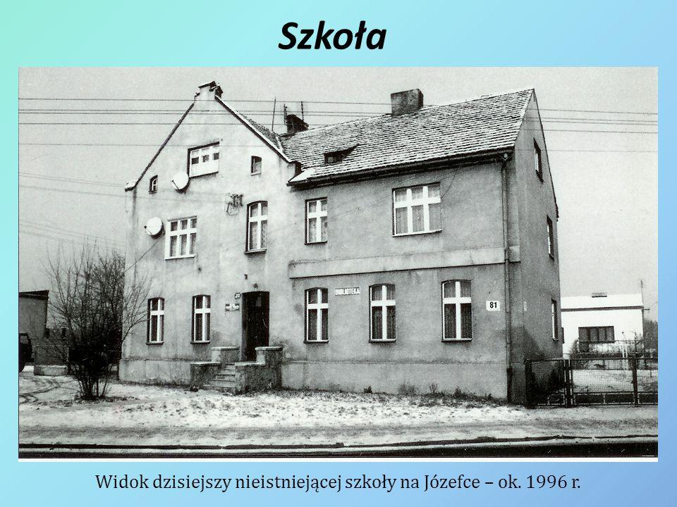 Widok dzisiejszy nieistniejącej szkoły na Józefce – ok. 1996 r.