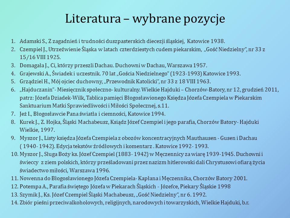 Literatura – wybrane pozycje