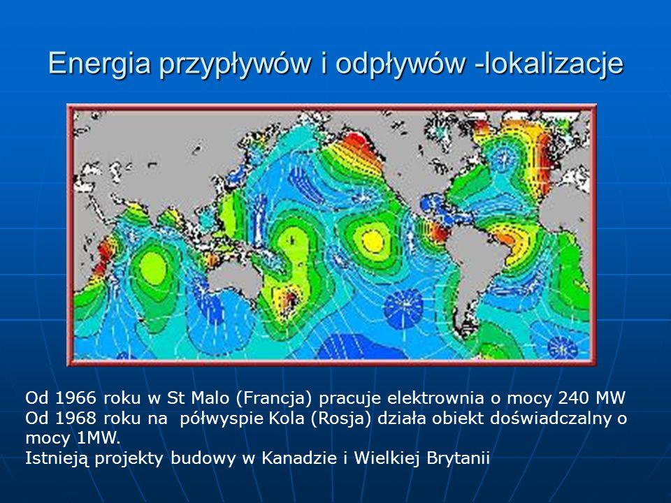 Energia przypływów i odpływów -lokalizacje