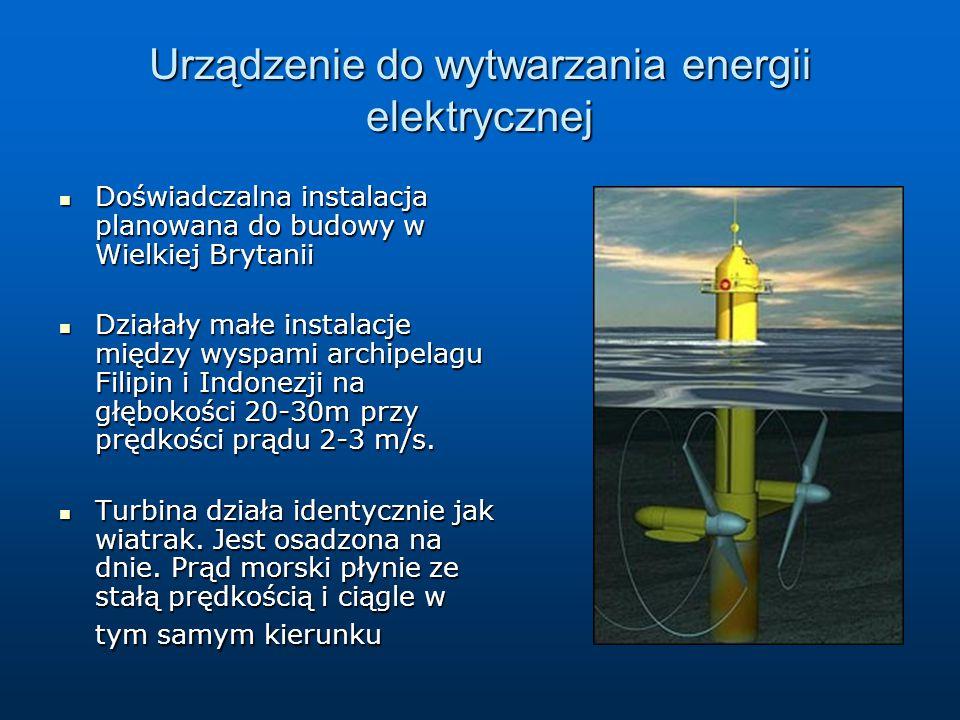 Urządzenie do wytwarzania energii elektrycznej