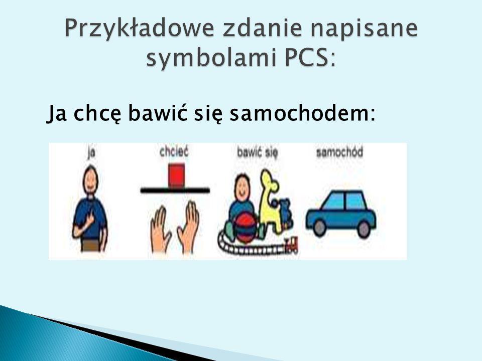 Przykładowe zdanie napisane symbolami PCS: