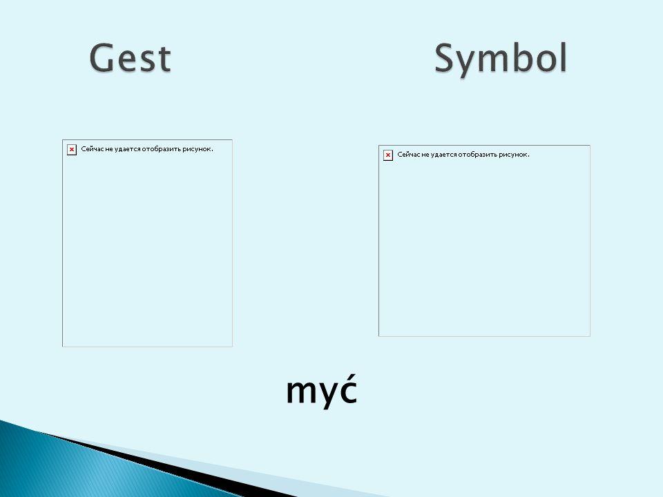 Gest Symbol myć
