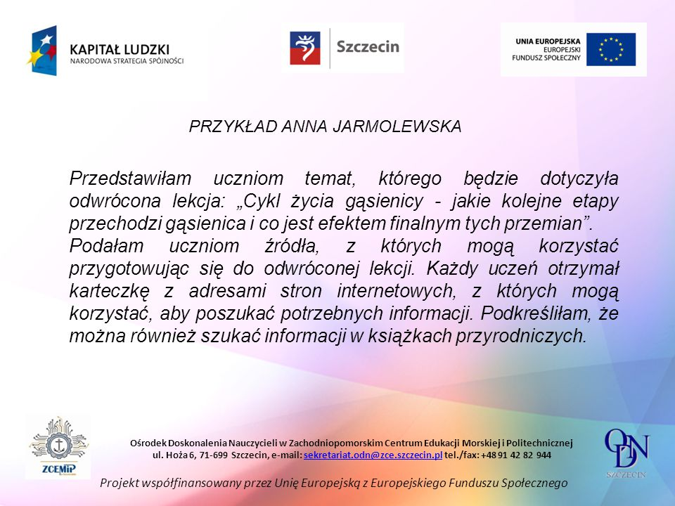 PRZYKŁAD ANNA JARMOLEWSKA
