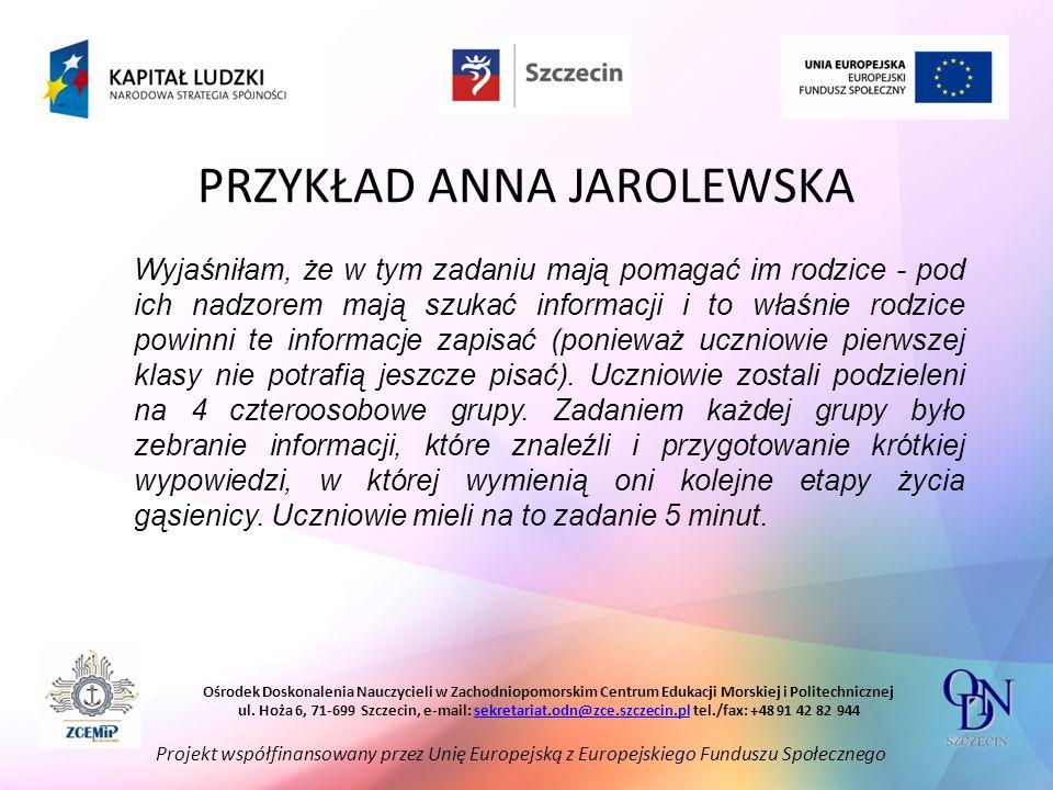 PRZYKŁAD ANNA JAROLEWSKA