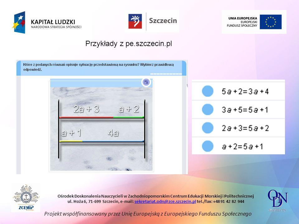 Przykłady z pe.szczecin.pl