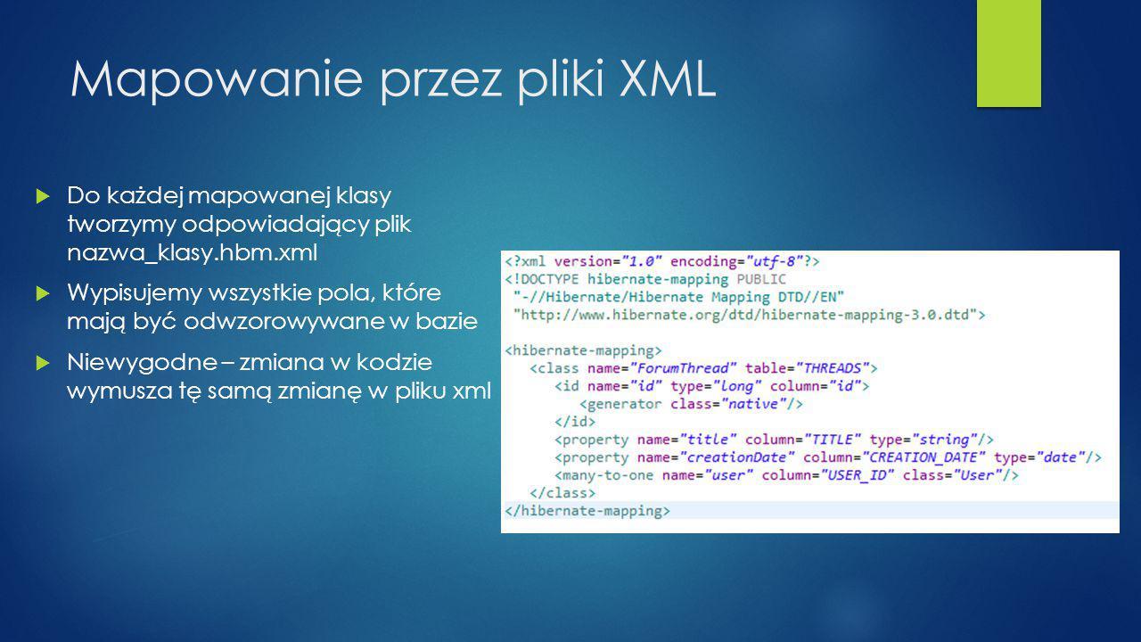 Mapowanie przez pliki XML