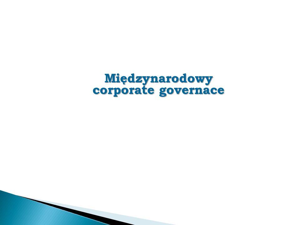 Międzynarodowy corporate governace