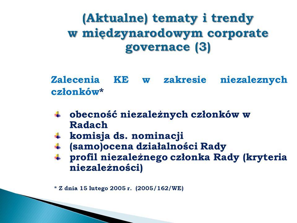 (Aktualne) tematy i trendy w międzynarodowym corporate governace (3)