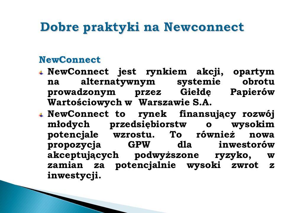 Dobre praktyki na Newconnect