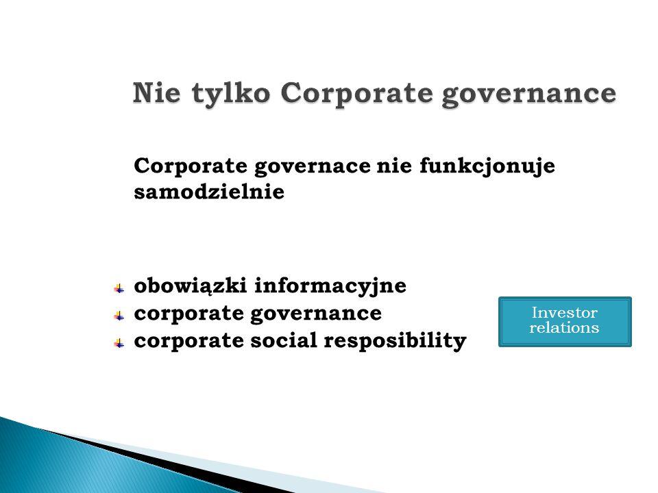 Nie tylko Corporate governance