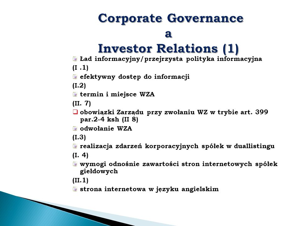 Corporate Governance a Investor Relations (1)
