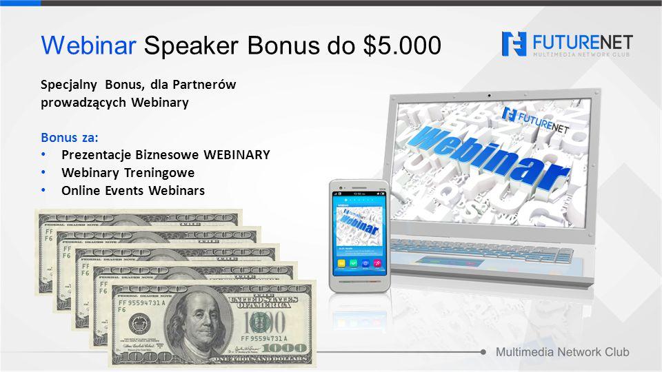 Webinar Speaker Bonus do $5.000