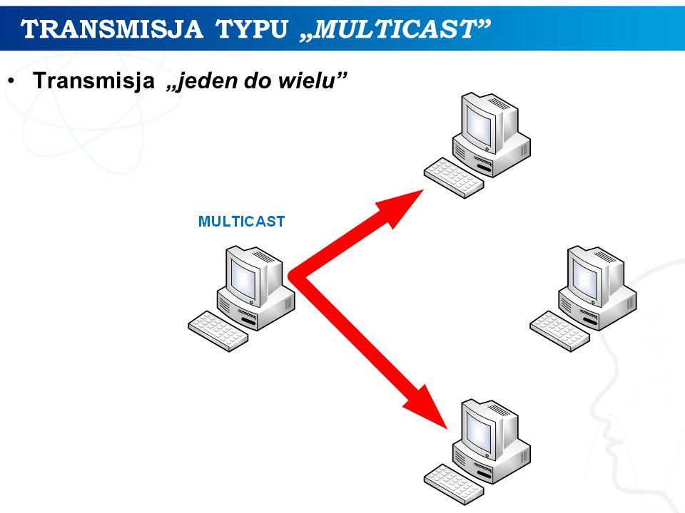 "TRANSMISJA TYPU ""MULTICAST"
