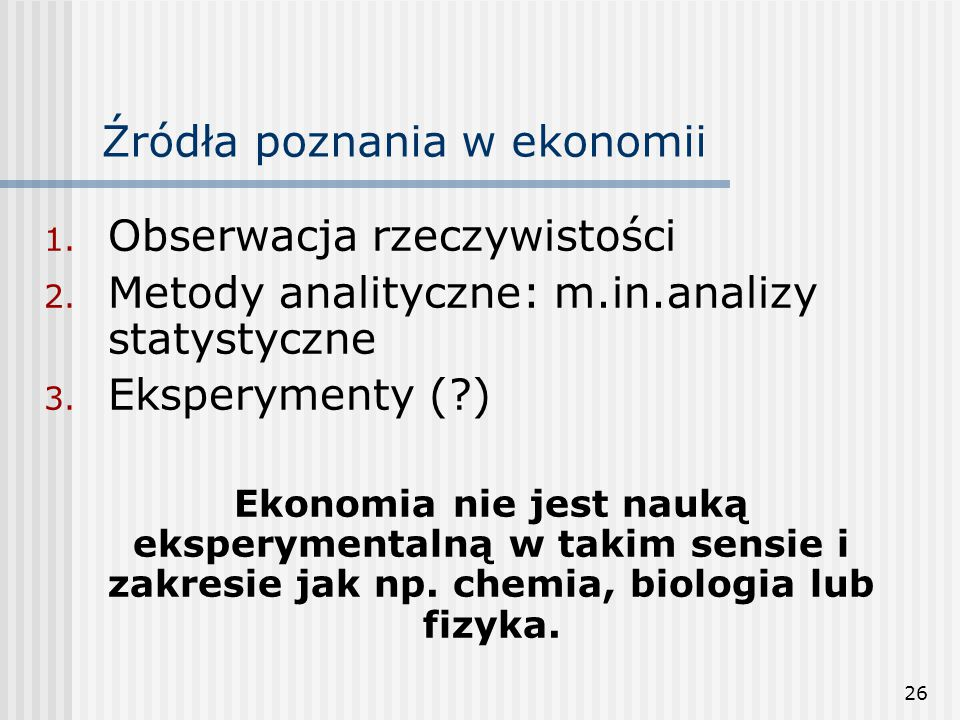 Źródła poznania w ekonomii