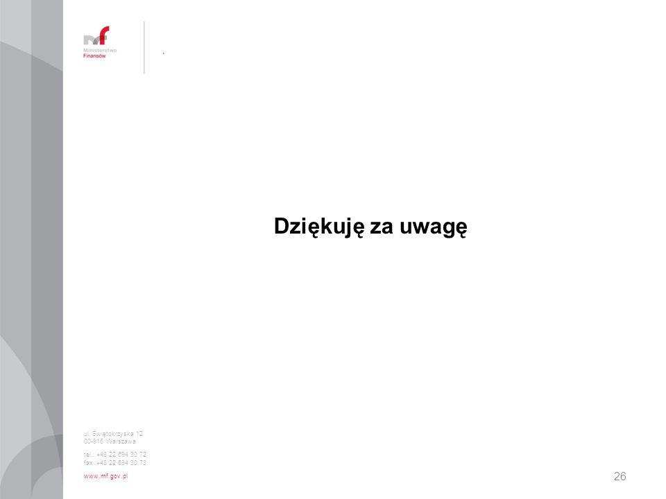 Dziękuję za uwagę . ul. Świętokrzyska 12 00-916 Warszawa
