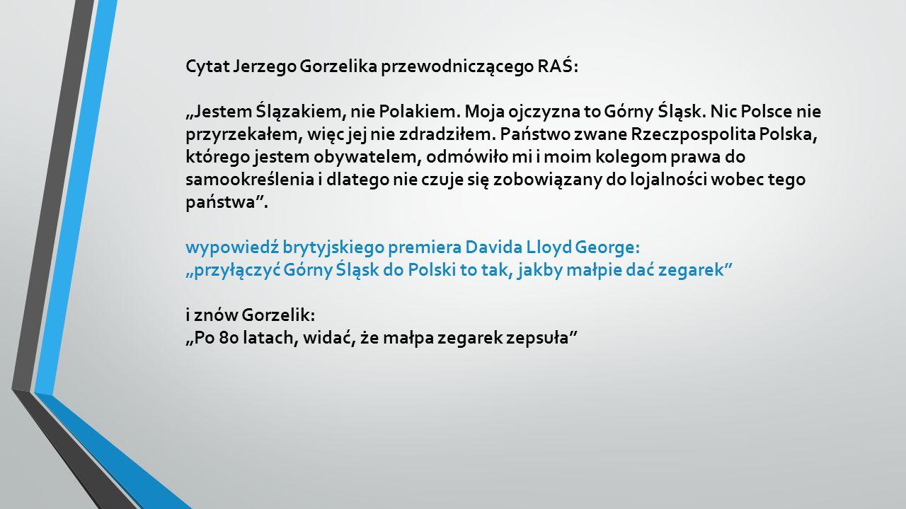 Cytat Jerzego Gorzelika przewodniczącego RAŚ: