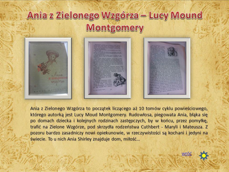 Ania z Zielonego Wzgórza – Lucy Mound Montgomery