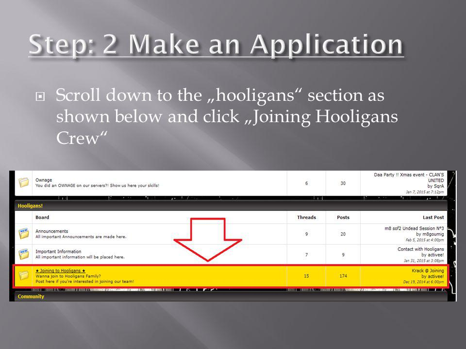 Step: 2 Make an Application