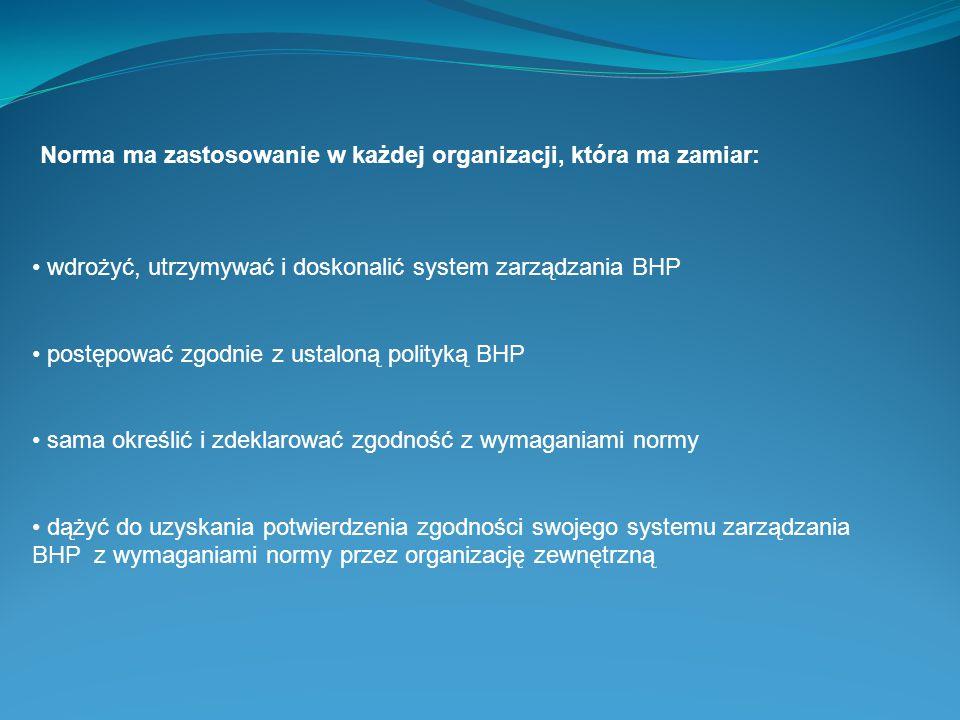 Norma ma zastosowanie w każdej organizacji, która ma zamiar: