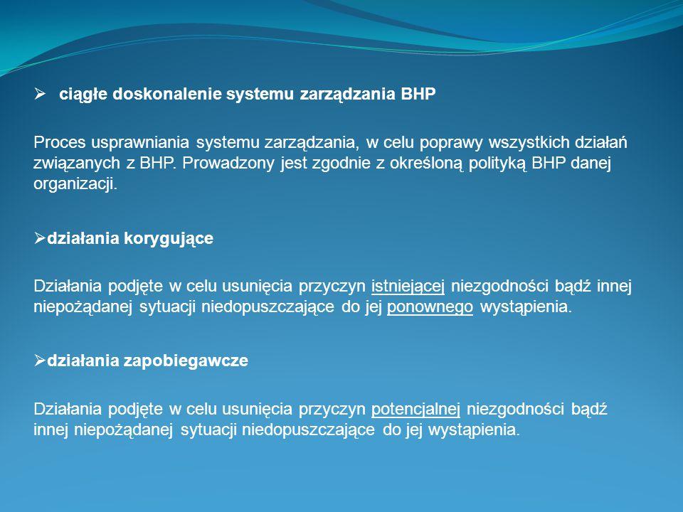 ciągłe doskonalenie systemu zarządzania BHP