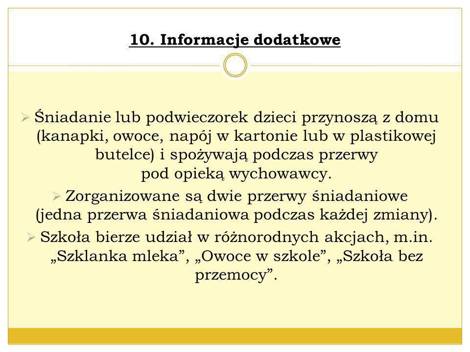 10. Informacje dodatkowe