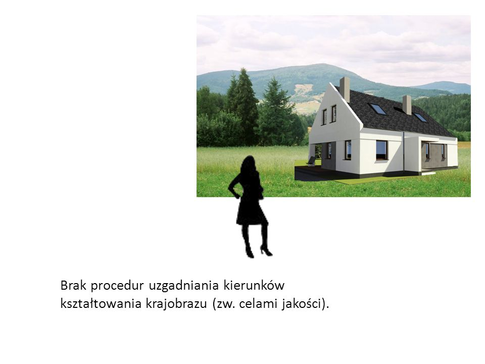 Brak procedur uzgadniania kierunków kształtowania krajobrazu (zw