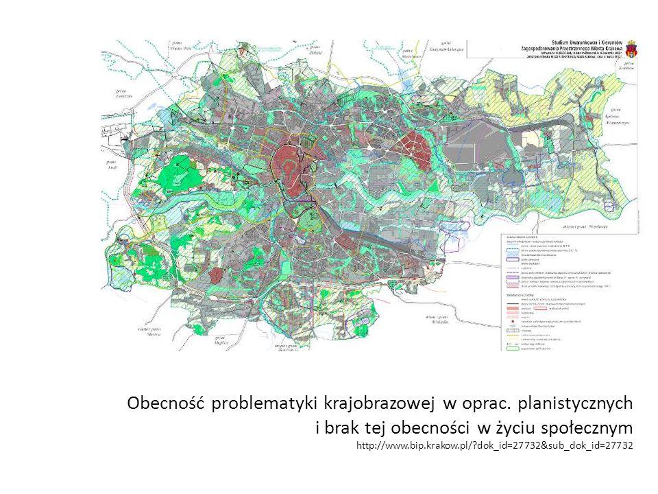 Obecność problematyki krajobrazowej w oprac