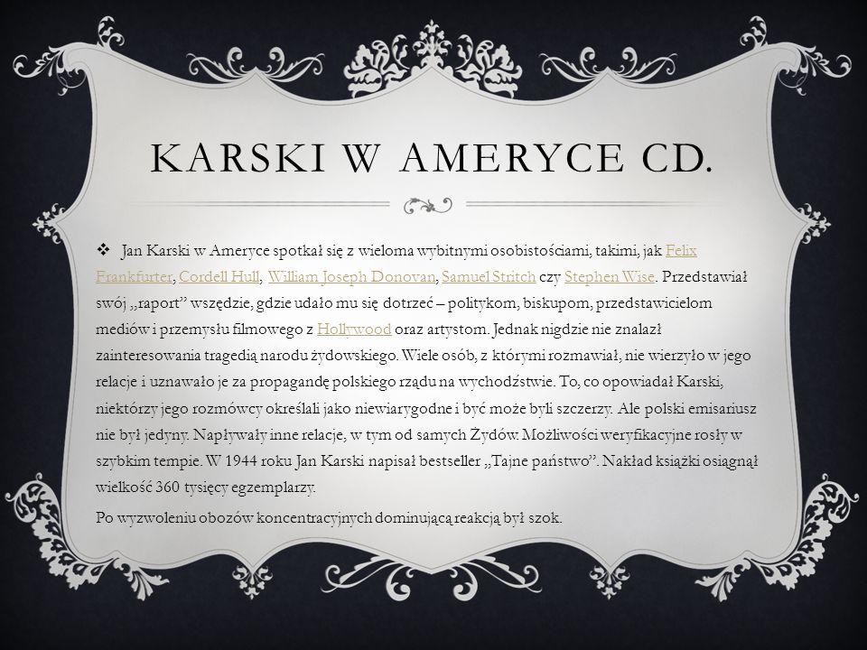Karski w Ameryce cd.