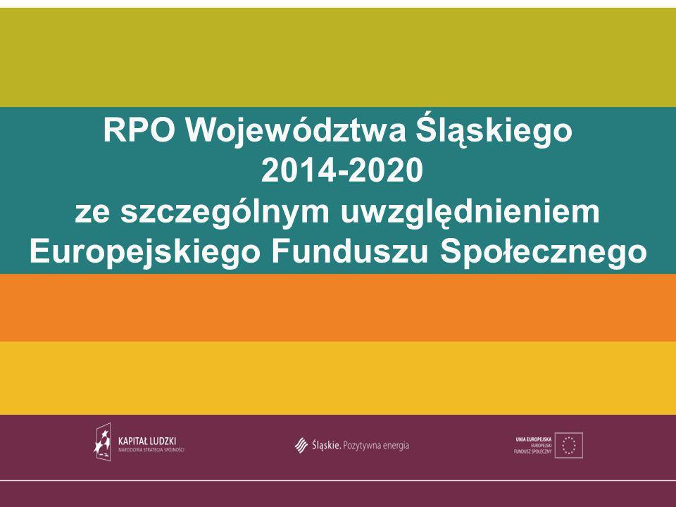 TYTUŁ PREZENTACJI RPO Województwa Śląskiego 2014-2020