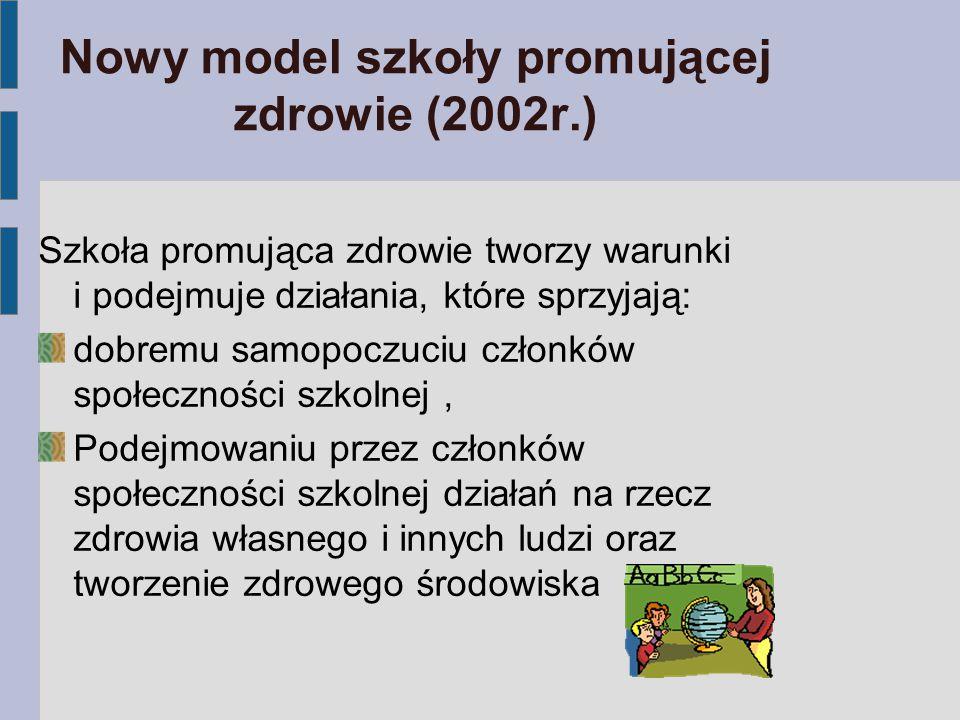 Nowy model szkoły promującej zdrowie (2002r.)